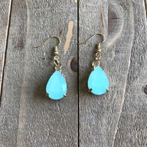 3 for $25 Handmade Teal and Gold Dangle Earrings